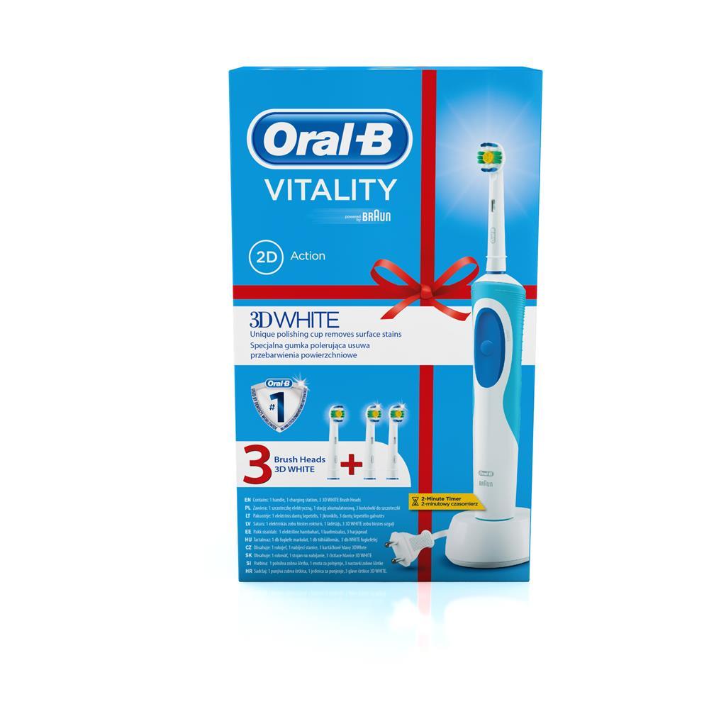 Toothbrush Oral-B Braun D12.513W + EB18-2 Oral-B Vitality White