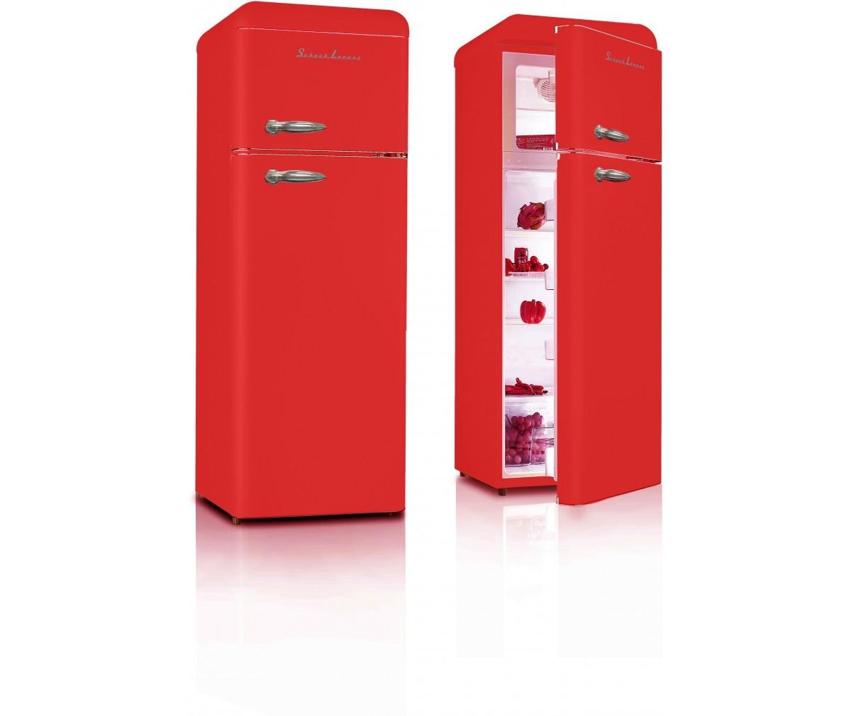 Chladnička Schaub Lorenz SL 210 FR červená lesklá + TOPINKOVAČ