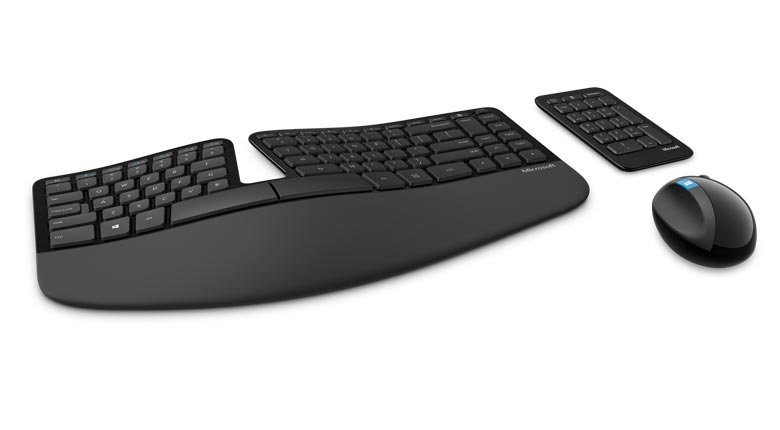 Microsoft Desktop Sculpt Ergonomic, English, Black