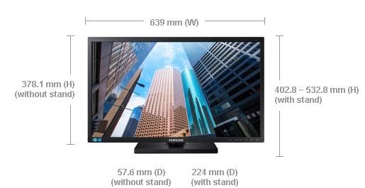 """Samsung LED LCD 27"""" S27E650D - PLS, 1920x1080, 4ms, 250cd, D-SUB, DP, DVI, USB, Repro"""