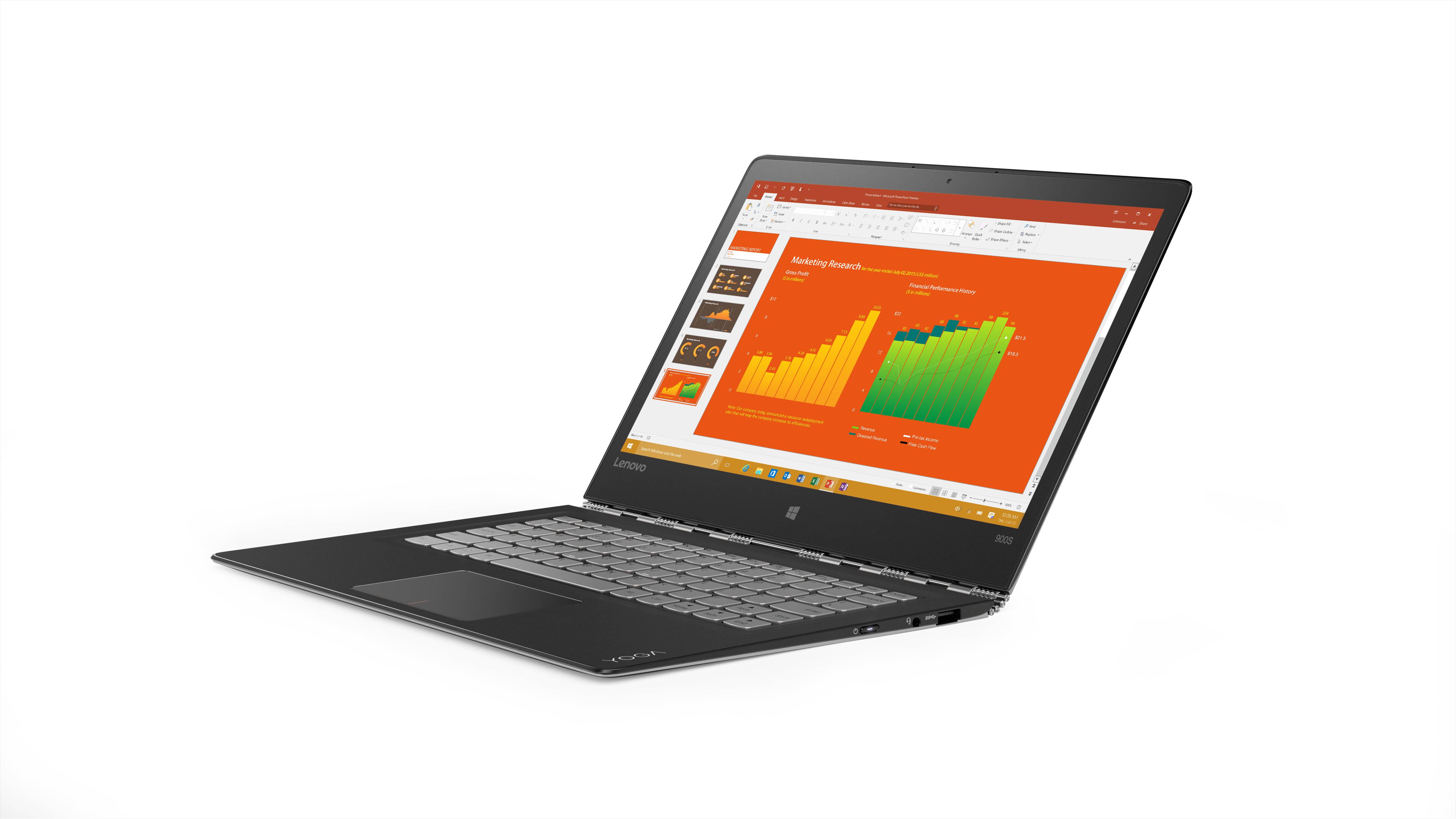 """Lenovo YOGA 900S-12ISK M7-6Y75 3,10GHz/8GB/512GB SSD/12,5"""" QHD/IPS/multitouch/WIN10 PRO stříbrná 80ML004TCK"""