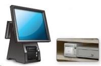 Seiko pokladní tiskárna RP-D10, řezačka, Horní/Přední výstup, LAN, černá, zdroj