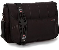 "i-stay Black 15.6"" & Up to 12"" Laptop / Tablet Messenger Bag"