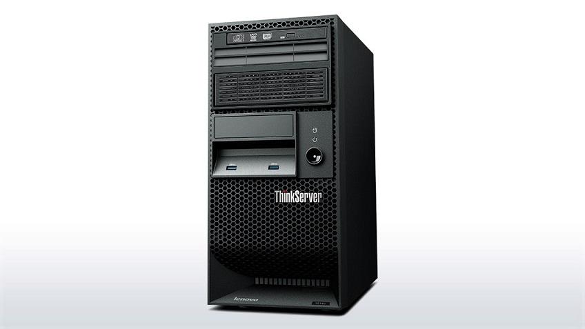 """Lenovo TS140 Xeon 4C E3-1226v3 3.3GHz/1600MHz/8MB/1x8GB/2x1TB SATA SS 3,5"""" (4)/RAID5/DVD-RW/AMT9.0/450W+ Win2012 R2 FND"""