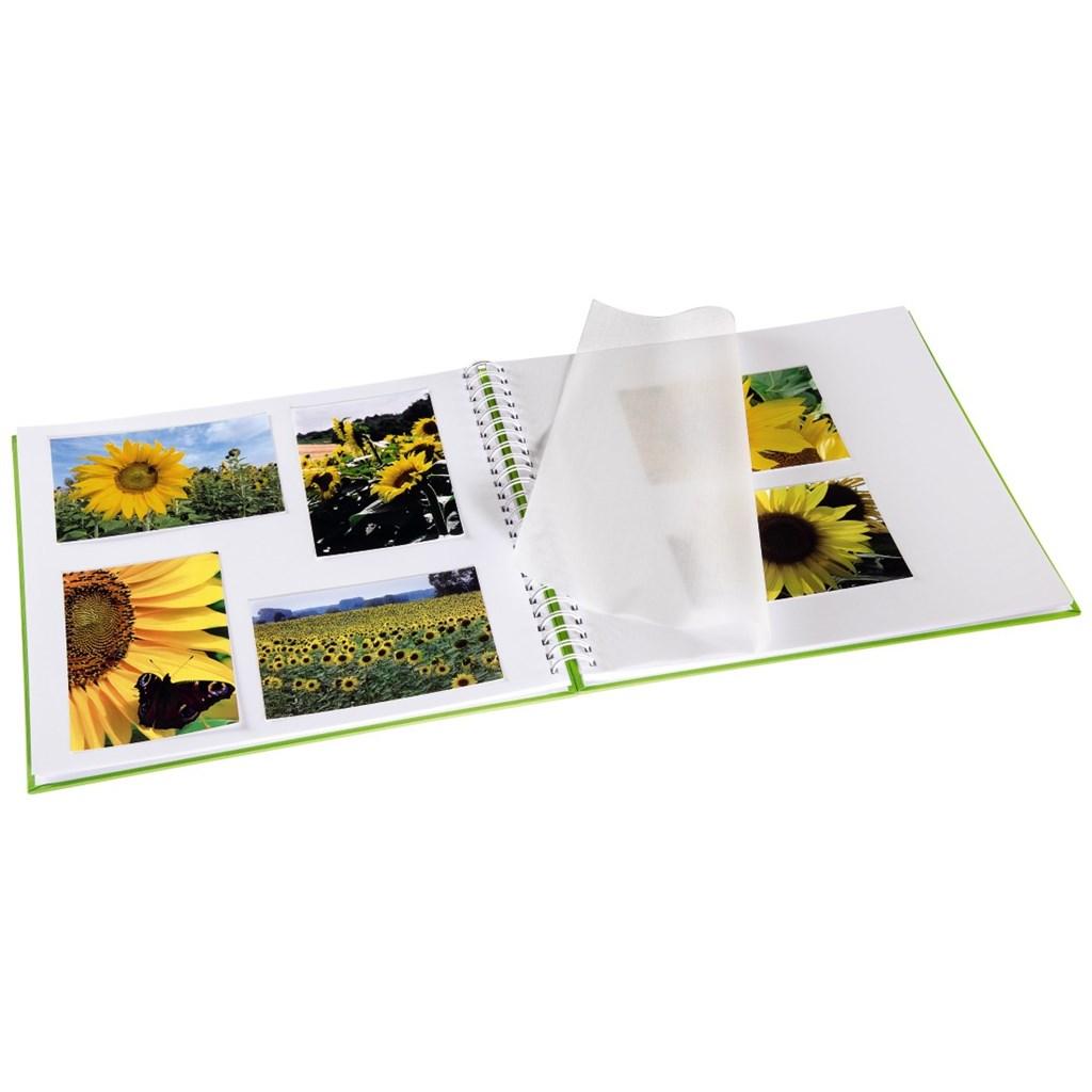 Hama album klasické spirálové FINE ART 36x32 cm, 50 stran, kiwi, bílé listy