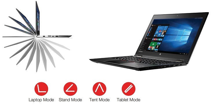 """LENOVO TP YOGA 460 černá 14"""" IPS Touch 1920x1080mat,i5-6200U@2.3GHz,8GB,256SSD,HD520,HDMI,DP,3xUSB,3c,4G,W10P"""