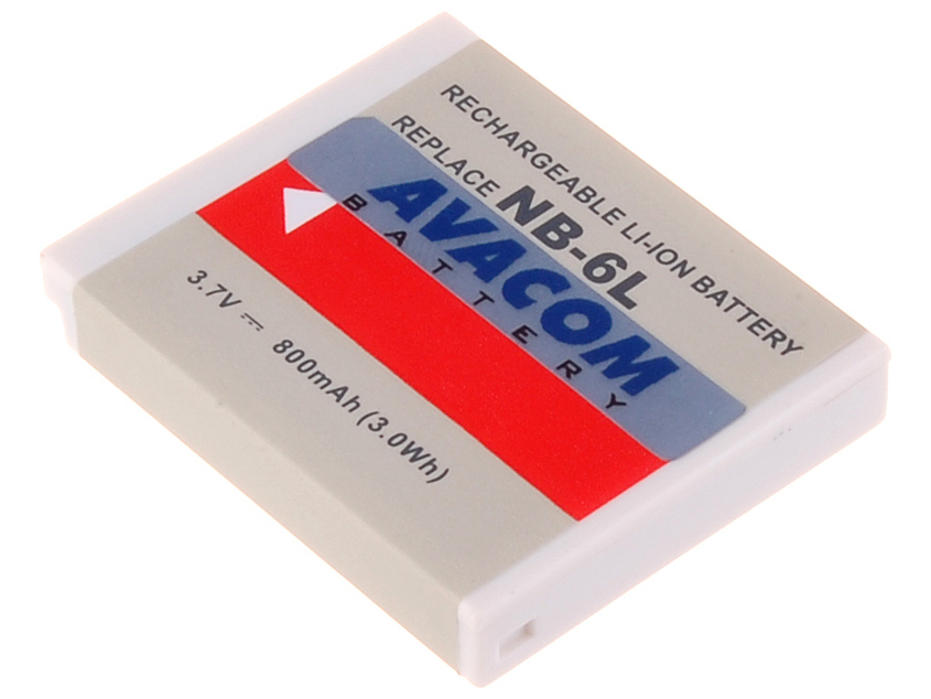 Náhradní baterie AVACOM Canon NB-6L Li-ion 3.7V 800mAh 3Wh