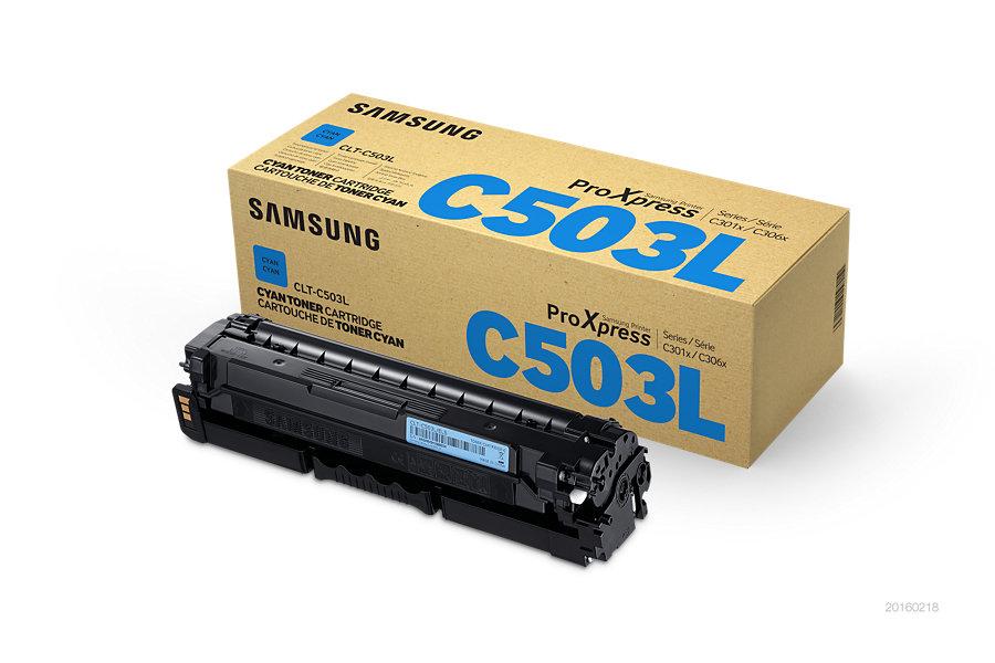 Samsung toner bar CLT-C503L/ELS pro C3010/C3060 Series - cyan - 5000 str.