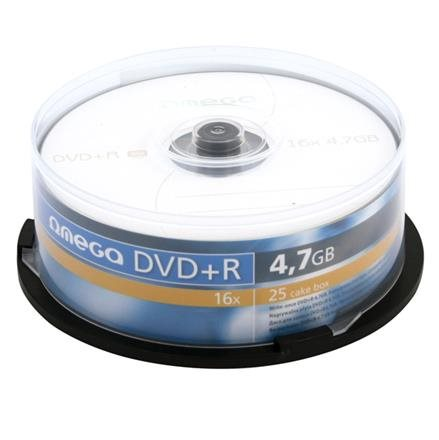 OMEGA DVD+R 4,7GB 16X CAKE*25