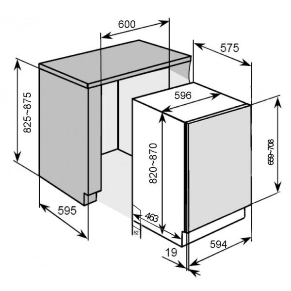 Vestavná myčka PKM DW12-7Fl