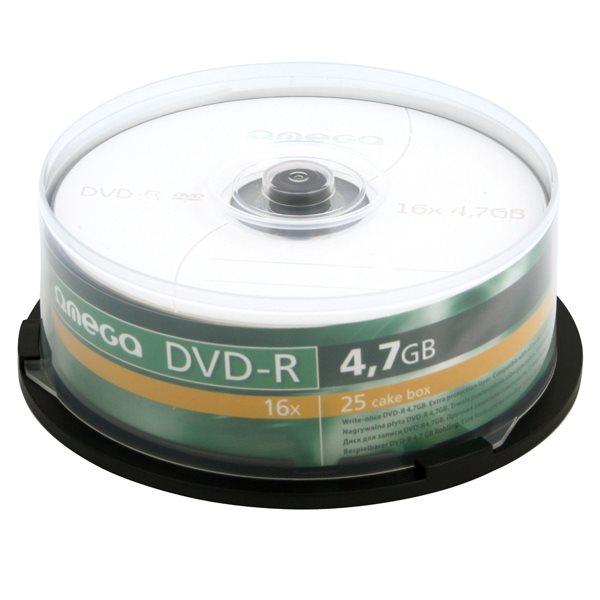 OMEGA DVD-R 4,7GB 16X CAKE*25