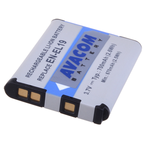 Náhradní baterie AVACOM Nikon EN-EL19 Li-ion 3.7V 700mAh 2.6Wh