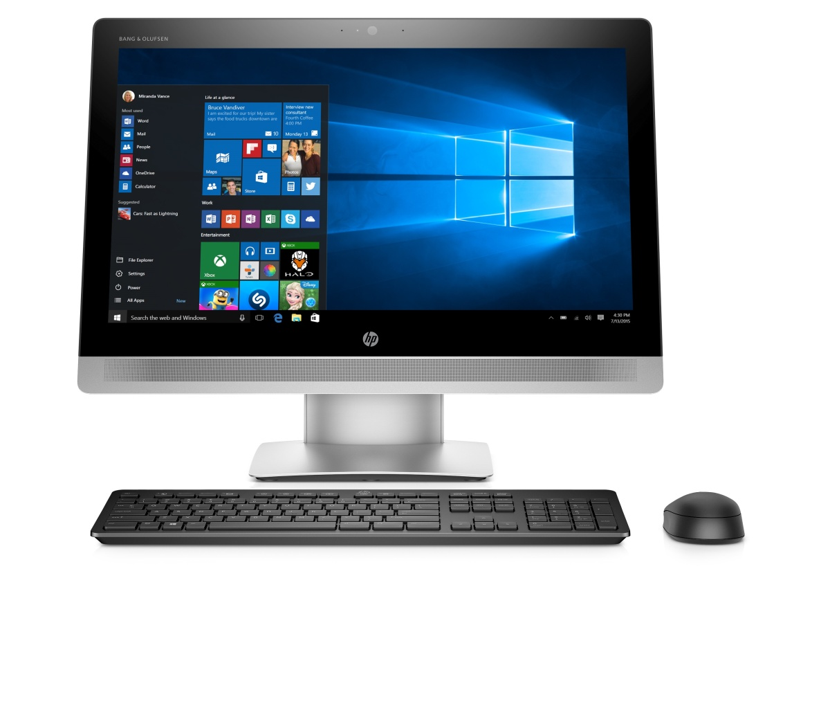 HP Eliteone 800G2 AiO 23 FHD LCD, i5-6500, 1x4 GB, 500GB, Intel HD, a/b/g/n + BT, DVDRW, SD MCR, Win10Pro DWN W7