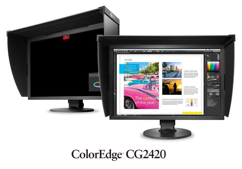 "EIZO 24"" CG2420-BK, IPS, 1920x1200, 400 cd/m2, 1500 : 1, DVI,HDMI,Disp.P, černý"