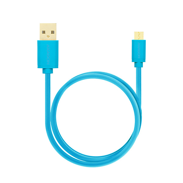 AXAGON HQ Kabel Micro USB, 2A, modrý, 1 m