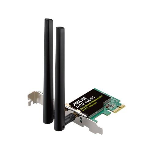 ASUS PCE-AC51, Dvoupásmový PCI-E adaptér třídy Wireless-AC750