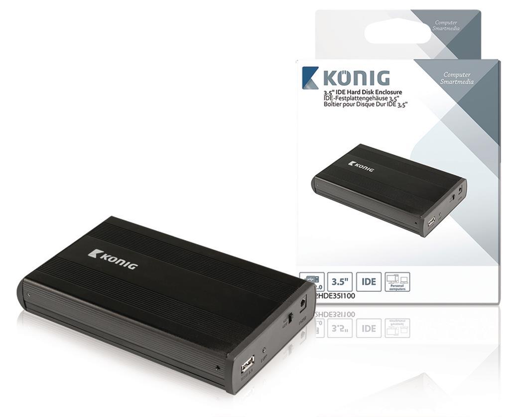 """Konig přenosný box pro pevný disk 3,5"""" IDE USB 2.0"""