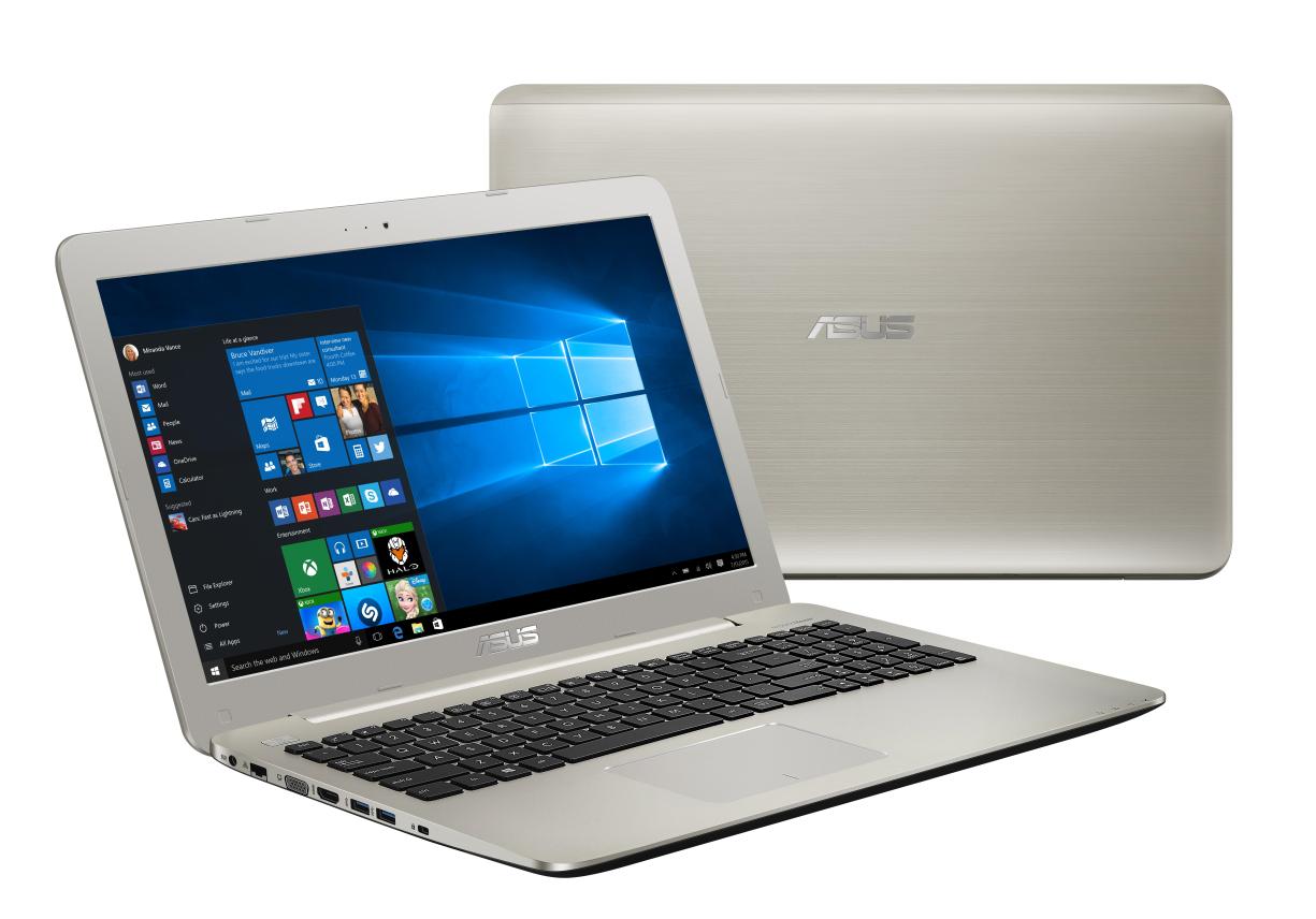 "ASUS U555UB-FI180T i7-6500U/8GB/256GB SSD/DVD-RW/GT940M 2GB/15,6"" UHD/Win10/zlatý"
