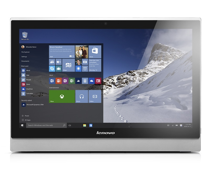 "LENOVO PC S500Z AiO Touch 23"" i3-6100U@2.3GHz,4GB,8+1TB54,DVD,GTX920-2GB,2HDMI,5xUSB,W10"