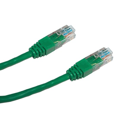 DATACOM Patch cord UTP CAT5E 1,5m zelený