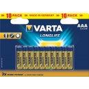 Baterie Varta Longlife AAA 10ks