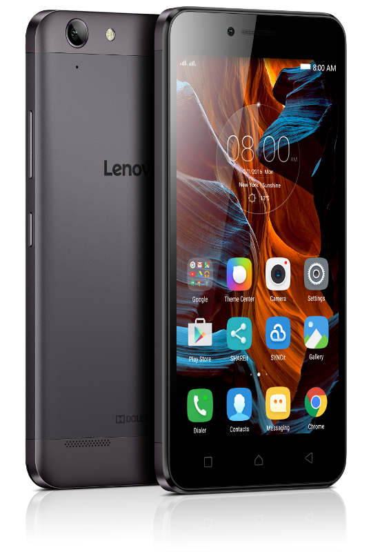 "Lenovo Smartphone K5 Dual SIM/5,0"" IPS/1280x720/Octa-Core/1,4GHz/2GB/16GB/13Mpx/LTE/Android 5.1/Grey"