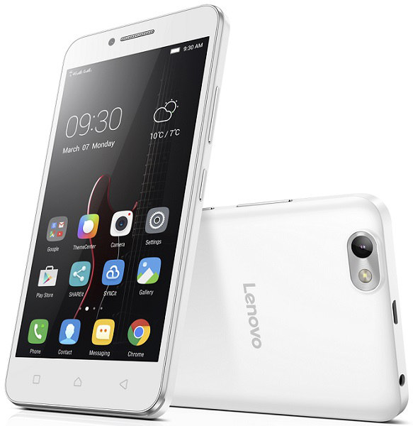 "Lenovo Smartphone Vibe C Dual SIM/5,0"" TN/854x480/Quad-Core/1,1GHz/1GB/8GB/5Mpx/LTE/Android 5.1/White"