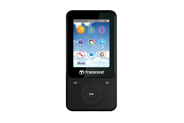 Transcend 8GB Flash MP3 přehrávač T-Sonic 710, MP710, černý