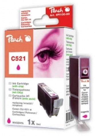 PEACH kompatibilní cartridge Canon CLI-521M, Magenta, 10 ml