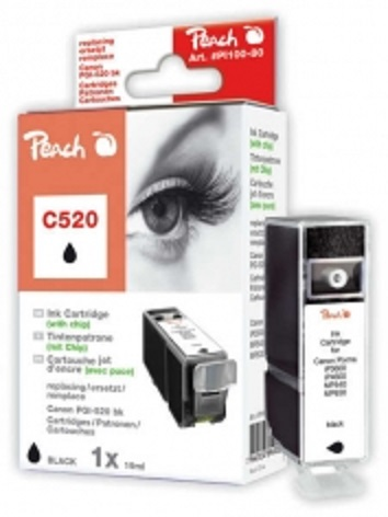 PEACH kompatibilní cartridge Canon PGI-520BK, Black, 19 ml