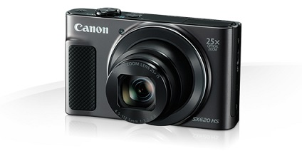 Canon PowerShot SX620HS, Black - 20MP, 25x zoom, 25-625mm, 3,0""