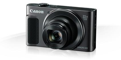 Canon PowerShot SX620HS, Black - 20MP, 25x zoom + pouzdro Canon DCC-1500
