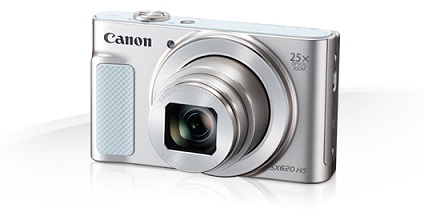 Canon PowerShot SX620HS, White - 20MP, 25x zoom, 25-625mm, 3,0""