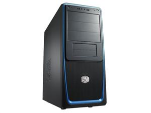 CoolerMaster case miditower Elite 311,ATX,black-blue, bez zdroje