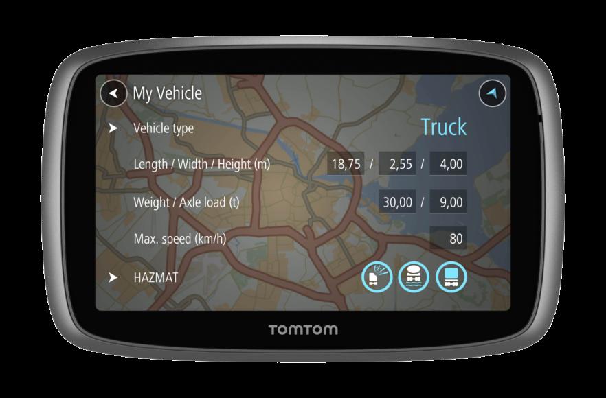 TomTom TRUCKER 500, LIFETIME mapy