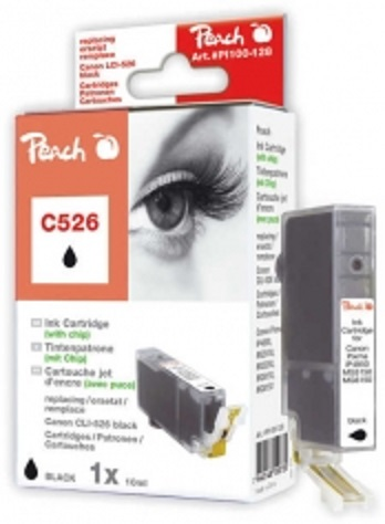 PEACH kompatibilní cartridge Canon CLI-526BK, Black, 10 ml