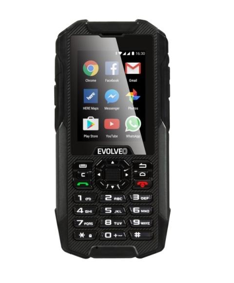 EVOLVEO StrongPhone X4, vodotěsný odolný Android smartphone s klávesnicí