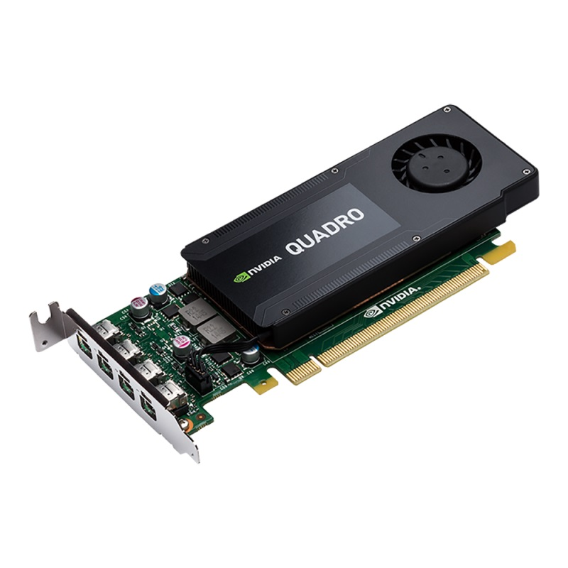 PNY NVIDIA Quadro K1200 DP, 4GB GDDR5 (128 Bit), 4xminiDP (4xminiDP to DP), LP