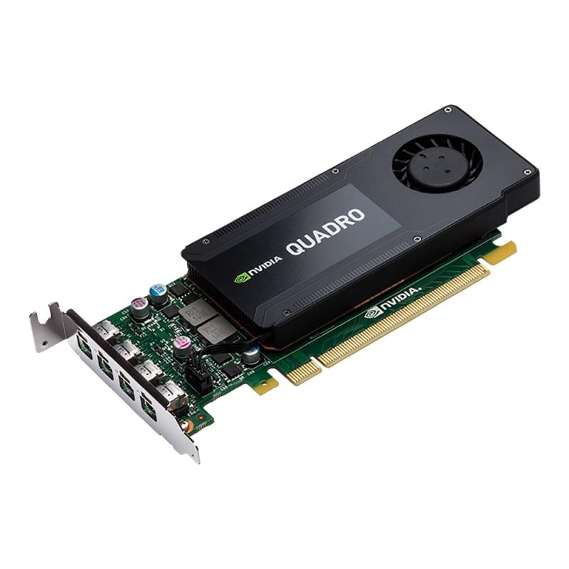 PNY NVIDIA Quadro K1200 DP, 4GB GDDR5 (128 Bit), 4xminiDP (4xminiDP to DP), LP