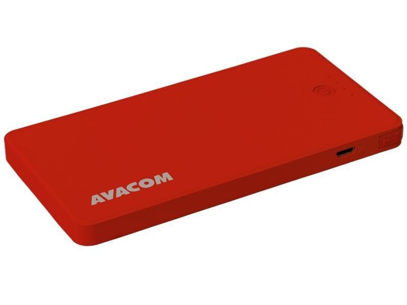 Power Bank AVACOM PWRB-4000R s Li-pol články, kapacita 4000mAh, výstup 5V/2.1A+1A, barva červená
