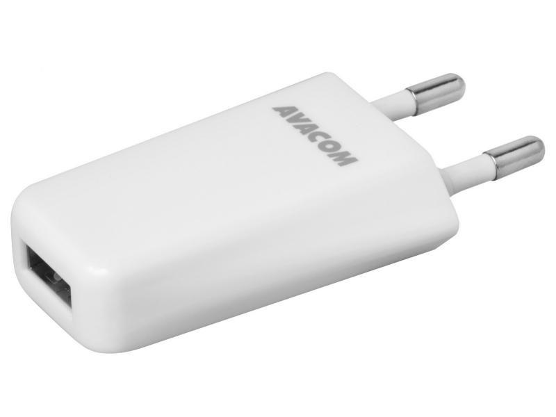 AVACOM síťová nabíječka 1A s jedním výstupem, bílá barva