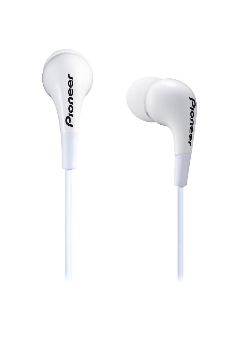 Pioneer špuntová sluchátka bílá