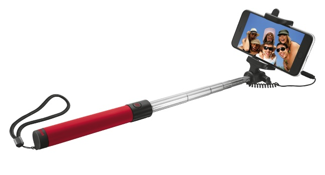 TRUST Wired Foldable Selfie Stick red