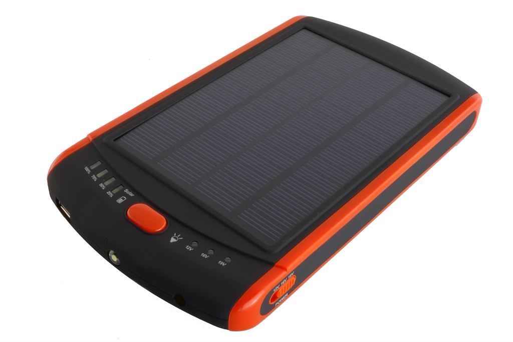PowerNeed Sunen Power Bank se solárním panelem 2.8W, 23 000mAh, černo-oranžový