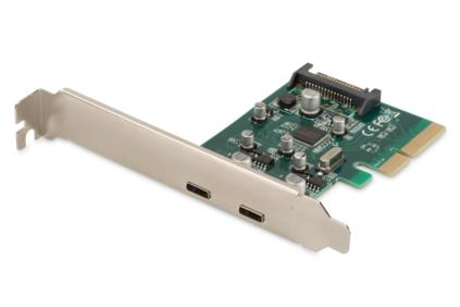 DIGITUS Add-On Card USB3.1 PCI Express, 2xUSB3.1 Typ C, Chip: ASM1142