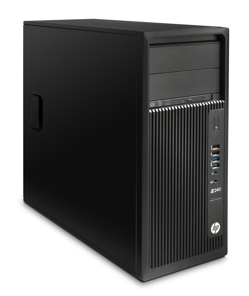 HP Z240 TWR Intel i7-6700 3.4GHz/8GB DDR4-2133 nECC(2x4GB)/256GB SSD/NVIDIA Quadro K1200 4GB 4xmDP/Win 10 Pro