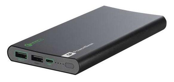 GP PowerBank FP10MB, záložní zdroj 10000 mAh, USB 1.8A/9V + USB 1A/5V, QuickCharge 2.0, černá