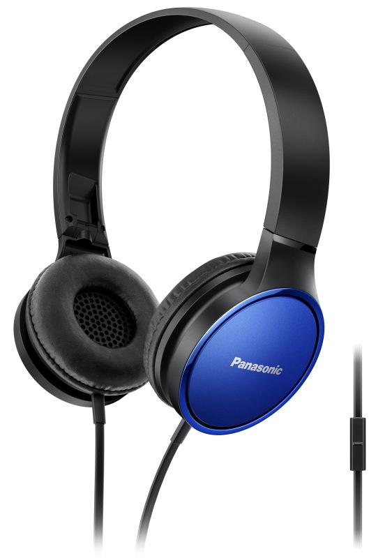 Panasonic RP-HF300ME-A, mikrofon, modrá