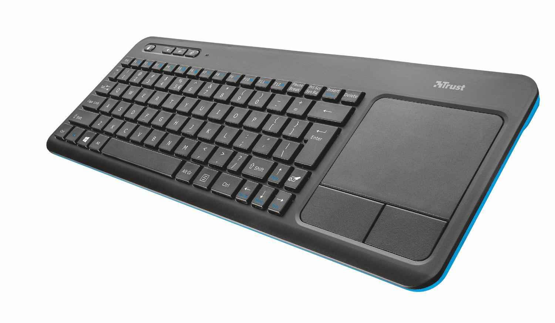 TRUST Klávesnice bezdrátová s touchpadem Veza Wireless Touchpad Keyboard, CZ/SK