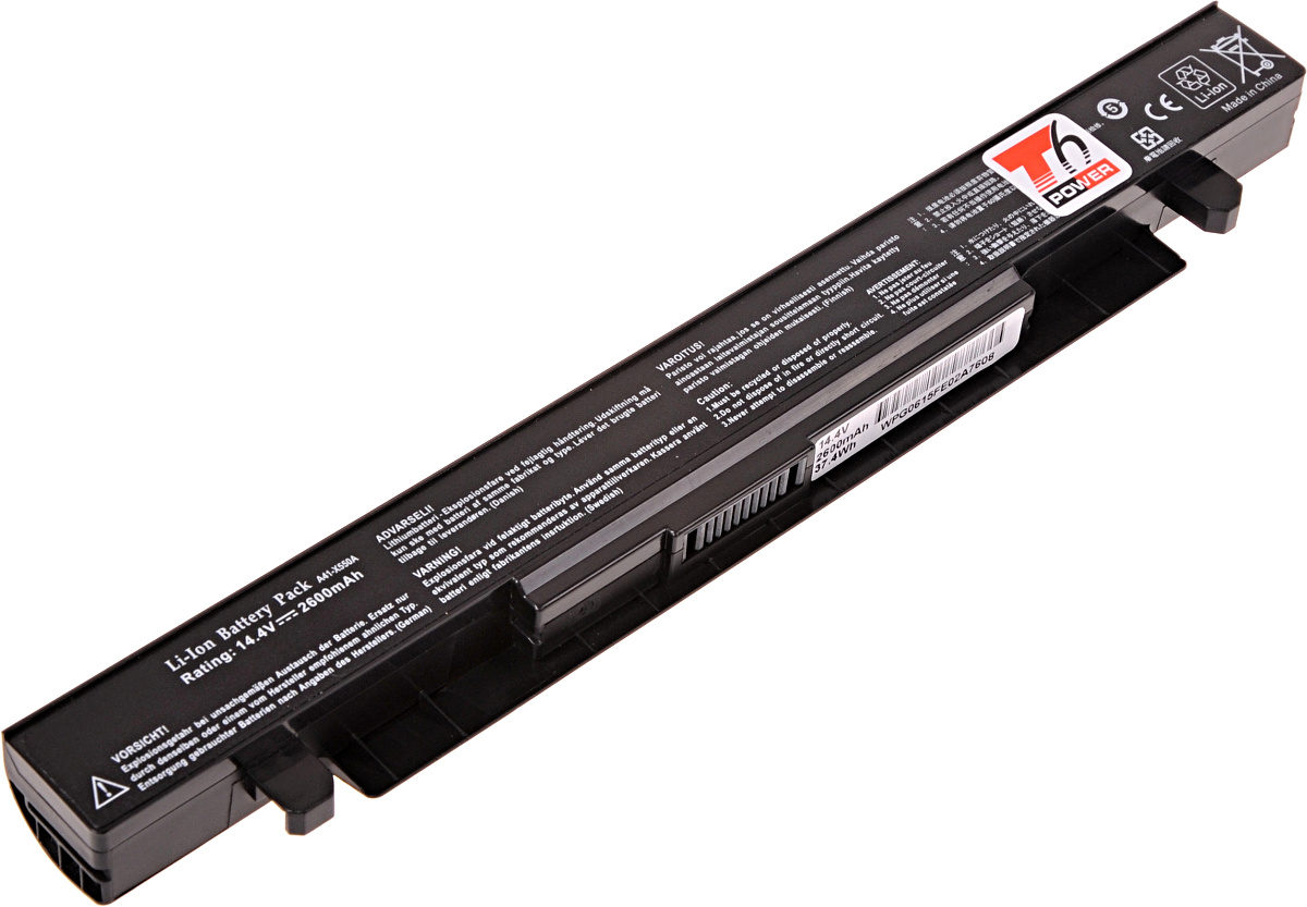 Baterie T6 power Asus X450, X550, X552, A450, A550, F450, F550, F552, R510, 4cell, 2600mAh